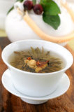 Tied green tea Stock Photography