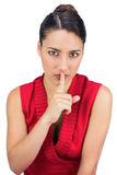 Tied haired brunette keeping secret Stock Image
