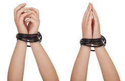 Tied hands Stock Photos