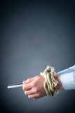 Tied Hands with a Credit Card Royalty Free Stock Photo