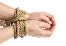 Tied hands Royalty Free Stock Photos