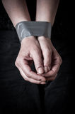 Tied hands Royalty Free Stock Image