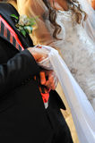 Tied Hands on Wedding Ceremony Stock Photo