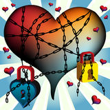 Tied heart Stock Image