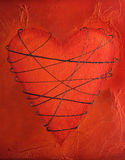 Tied heart painting Royalty Free Stock Photo