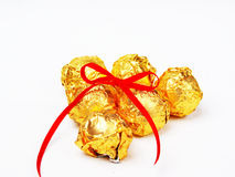 Tied knot chocolate Royalty Free Stock Images