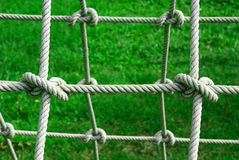 Tied knot on rope. In the Garden Stock Photos