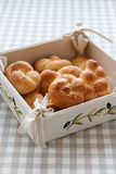 Tied or knotted rolls Royalty Free Stock Images