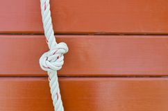 Tied a rope. Stock Photos