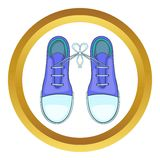Tied shoes joke vector icon Royalty Free Stock Photo