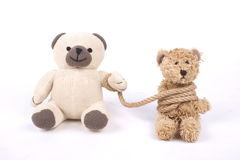 Tied teddy bear Stock Photos