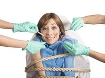 Tied to the dentist Stock Images