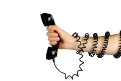 Tied to the telephone Stock Photography