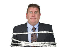 Tied up businessman Stock Photography