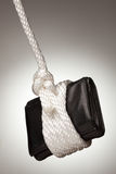 Tied Up and Hanging Wallet Stock Photo