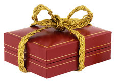 Tied up jewelry box Stock Images