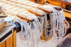 Tied up - nautical rope Stock Image
