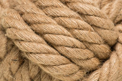 Tied up rope knot Royalty Free Stock Photos