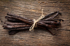 Tied vanilla pods Royalty Free Stock Photos
