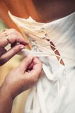 Tied wedding dress royalty free stock images
