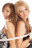Tied women Royalty Free Stock Photography