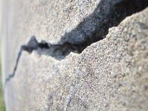 Tief gebrochener Beton lizenzfreie stockbilder
