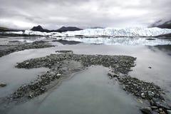 Tief im Gletscher-Gebiet lizenzfreie stockbilder