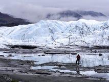 Tief im Gletscher-Gebiet lizenzfreies stockfoto