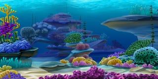 Tief unter Wasser lizenzfreie abbildung