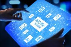 Tiefe Algorithmen Lernen der Maschine, künstliche Intelligenz, AI, Automatisierung und moderne Technologie im Geschäft als Konzep stockfotografie