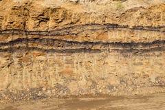 Tiefe Bodenschicht mit Lehm lizenzfreie stockfotos