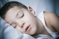 Tiefe Nachtschlaf Stockbild