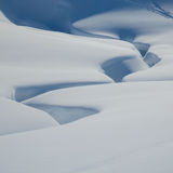 Tiefe snowshapes Stockfoto