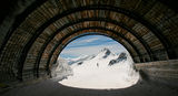 Tiefenbach Glacier ski tunnel, Solden, Austria. Stock Photography
