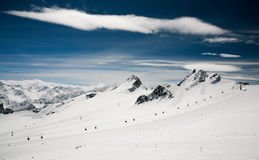 Tiefenbach Glacier, Solden, Austria. Royalty Free Stock Photo