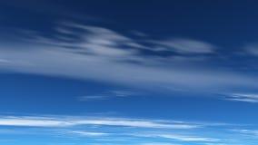 Tiefer blauer Himmel stock abbildung