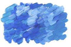 Tiefer blauer klarer Bürstenanschlag für Hintergrund Stockbild