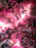 Tiefer Galaxierosa-Aquarellhintergrund vektor abbildung