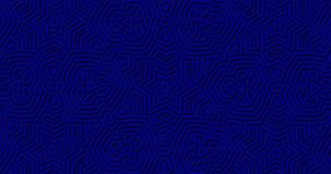 Tiefer königlicher geometrischer Hintergrund des Marineblaus Abstrakte Formen geschlungene Bewegung lizenzfreie abbildung