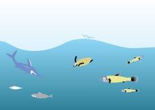 Tiefer Ozean Stockbild