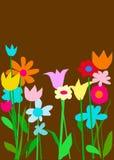 Tiefer Schokoladen-Farben-Garten Lizenzfreies Stockbild