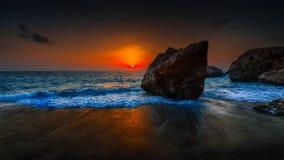 Tiefer Sonnenuntergang Stockfotos