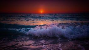 Tiefer Sonnenuntergang Lizenzfreies Stockbild