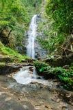Tiefer Waldwasserfall Lizenzfreies Stockfoto