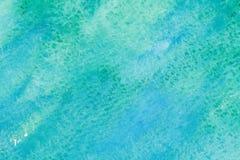 Tiefes blaues Meer des Aquarells Stockfotos