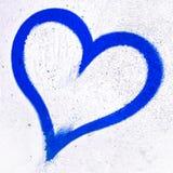 Tiefes blaues Schmutzherz Stockbild