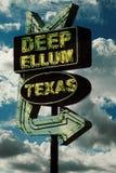 Tiefes Ellum-Zeichen Stockbild