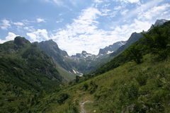 Tiefes Tal des Bergs Colomb, Seealpen, Entracque (25. Juli 2014) Stockfoto