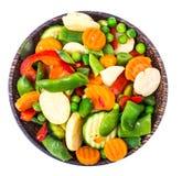 Tiefgefrorenes Gemüse, Vitamine konservierend stockfoto