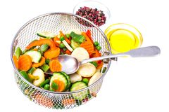 Tiefgefrorenes Gemüse, Vitamine konservierend stockbild